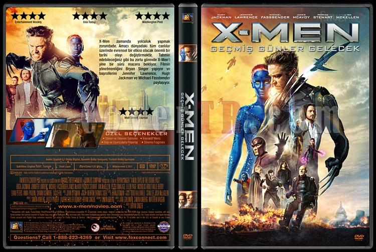 X-Men: Days of Future Past (X-Men: Geçmiş Günler Gelecek) - Custom Dvd Cover - Türkçe [2014]-covertr-dvdjpg
