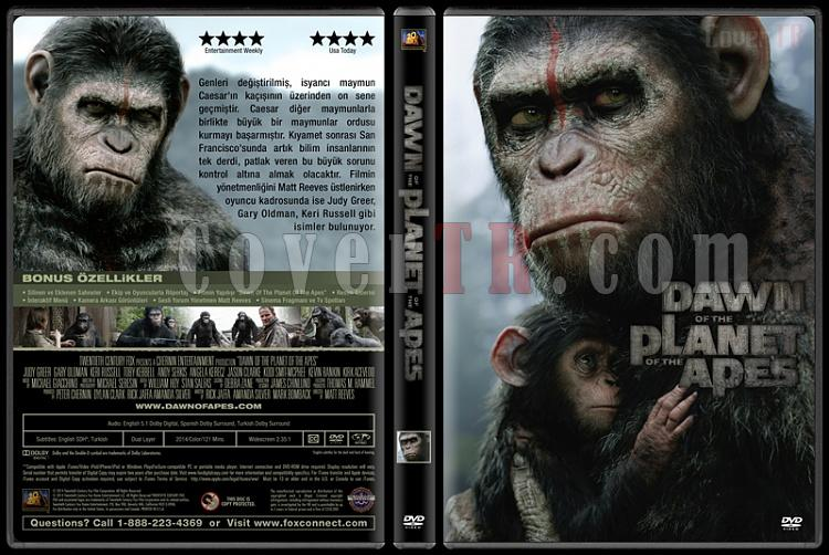 Dawn of the Planet of the Apes (Maymunlar Cehennemi: Şafak Vakti) - Custom Dvd Cover - Türkçe [2014]-covertr-dvdjpg
