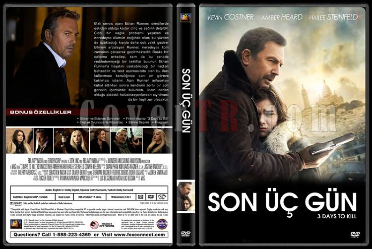 3 Days to Kill (Son Üç Gün) - Custom Dvd Cover - Türkçe [2014]-covertr-dvdjpg