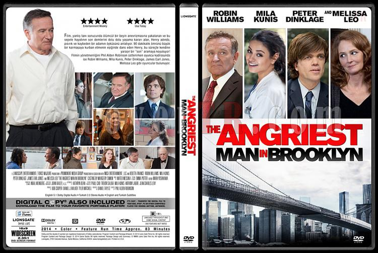 The Angriest Man in Brooklyn (Asabi Adam) - Custom Dvd Cover - Türkçe [2014]-1jpg