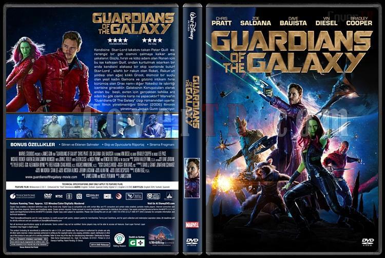 Guardians of Galaxy (Galaksinin Koruyucuları) - Custom Dvd Cover - Türkçe [2014]-covertr-dvdjpg