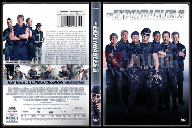 The Expendables 3 (Cehennem Melekleri 3) - Custom Dvd Cover - Türkçe [2014]-covertr-dvdjpg