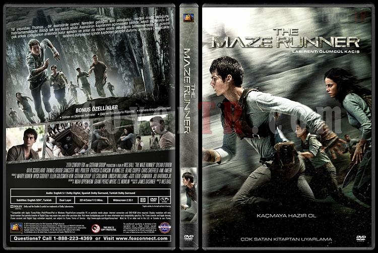 The Maze Runner (Labirent: Ölümcül Kaçış) - Custom Dvd Cover - Türkçe [2014]-covertr-dvdjpg