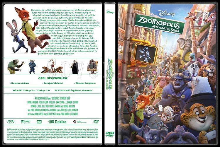 Zootopia (Zootropolis: Hayvanlar Şehri) - Custom Dvd Cover - Türkçe [2016]-standardjpg