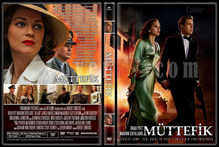 Allied (Müttefik) - Custom Dvd Cover - Türkçe [2016]-standardjpg