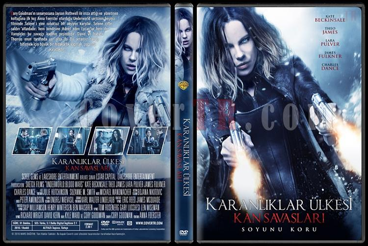 Underworld: Blood Wars (Karanlıklar Ülkesi: Kan Savaşları) - Custom Dvd Cover - Türkçe [2016]-standardjpg
