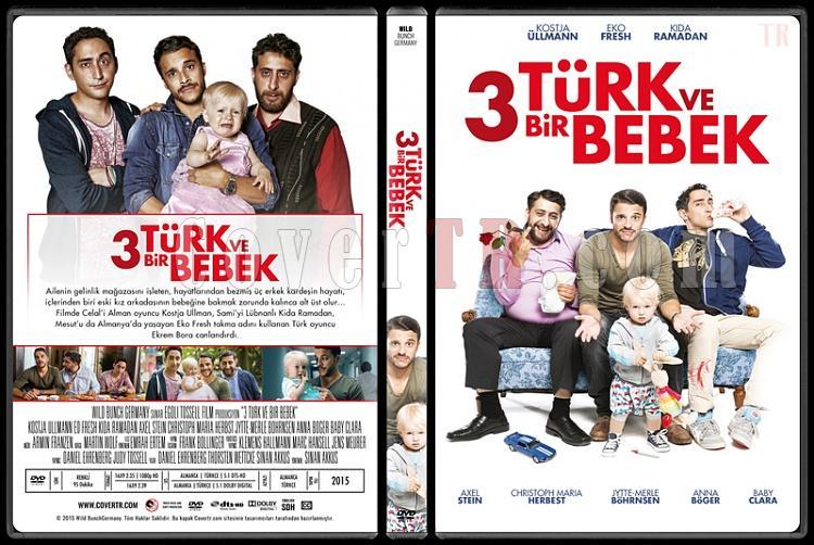 3 Türken & ein Baby (3 Türk ve Bir Bebek) - Custom Dvd Cover - Türkçe [2016]-standardjpg