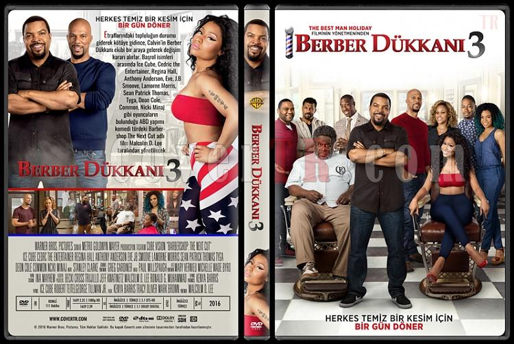 Barbershop: The Next Cut (Berber Dükkanı 3) - Custom Dvd Cover - Türkçe [2016]-standardjpg