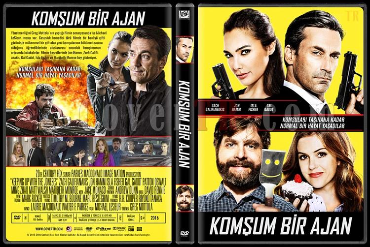 Keeping Up with the Joneses (Komşum Bir Ajan) - Custom Dvd Cover - Türkçe [2016]-standardjpg