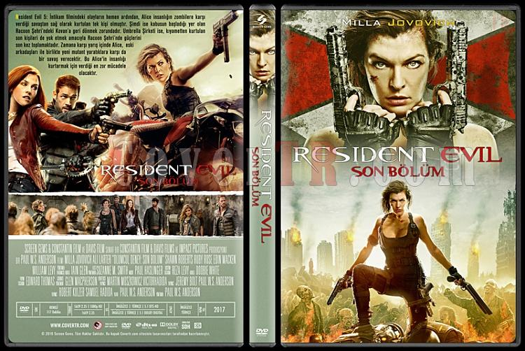 Resident Evil: The Final Chapter (Resident Evil: Son Bölüm) - Custom Dvd Cover - Türkçe [2017]-1jpg