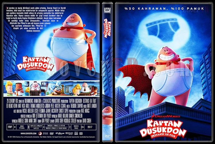 Captain Underpants: The First Epic Movie (Kaptan Düşükdon: Destansı İlk Film) - Custom Dvd Cover - Türkçe [2017]-1jpg