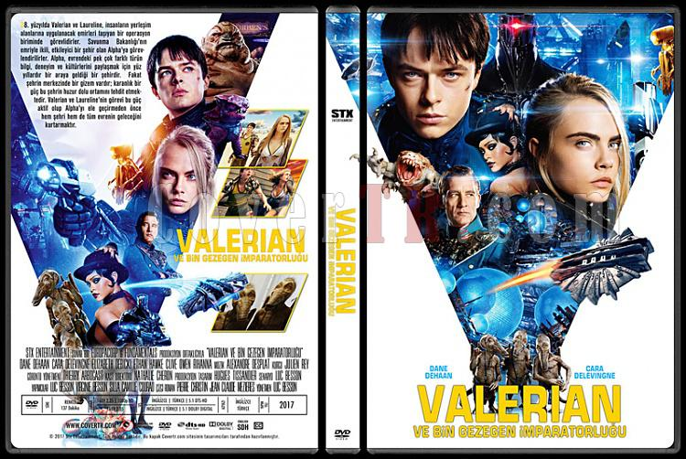 Valerian and the City of a Thousand Planets (Valerian ve Bin Gezegen İmparatorluğu) - Custom Dvd Cover - Türkçe [2017]-1jpg