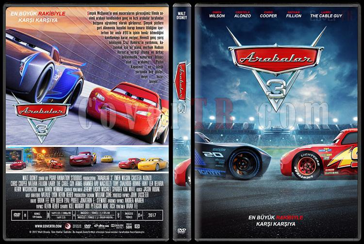 cars 3 arabalar 3 custom dvd cover t rk e 2017 covertr. Black Bedroom Furniture Sets. Home Design Ideas
