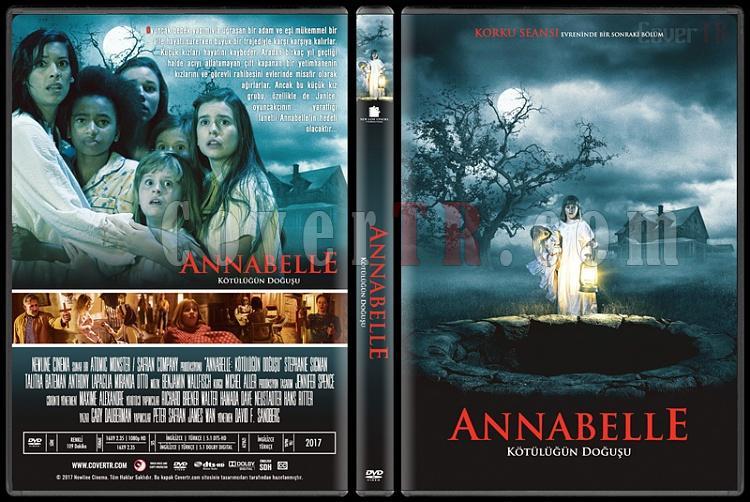 Annabelle: Creation (Annabelle: Kötülüğün Doğuşu) - Custom Dvd Cover - Türkçe [2017]-1jpg