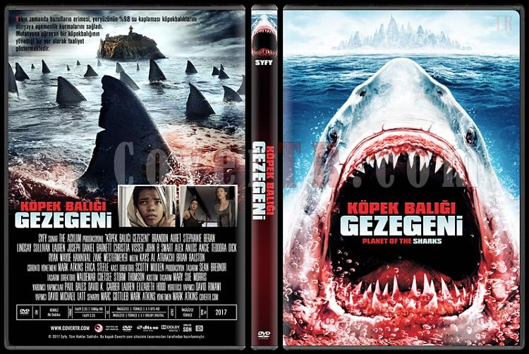 Planet of the Sharks (Köpek Balığı Gezegeni) - Custom Dvd Cover - Türkçe [2016]-2jpg