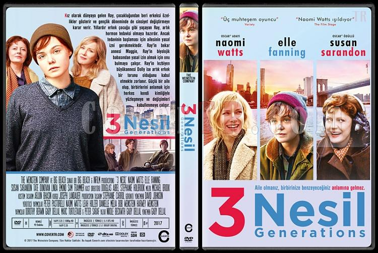 3 Generations - About Ray (3 Nesil) - Custom Dvd Cover - Türkçe [2016]-1jpg