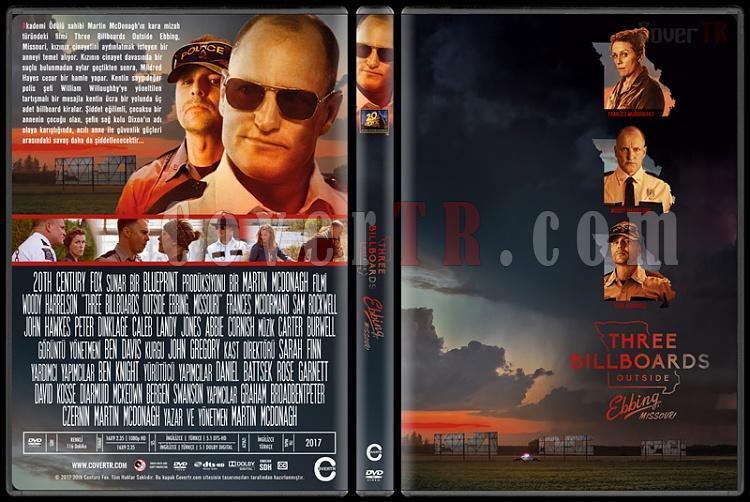 Three Billboards Outside Ebbing, Missouri - Custom Dvd Cover - Türkçe [2017]-1jpg