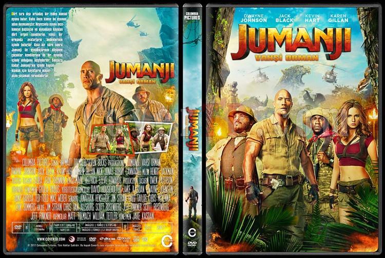 Jumanji: Welcome to the Jungle (Jumanji: Vahşi Orman) - Custom Dvd Cover - Türkçe [2017]-1jpg