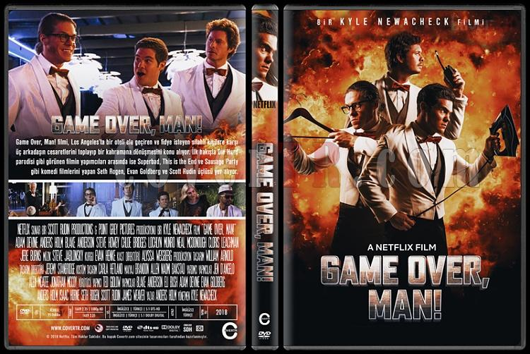 Game Over, Man! - Custom Dvd Cover - Türkçe [2018]-1jpg