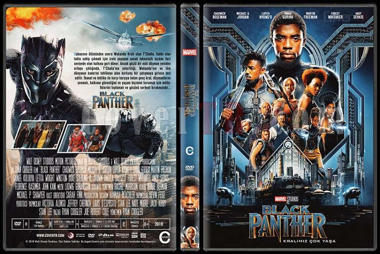 Black Panther (Kara Panter) - Custom Dvd Cover - Türkçe [2018]-3jpg