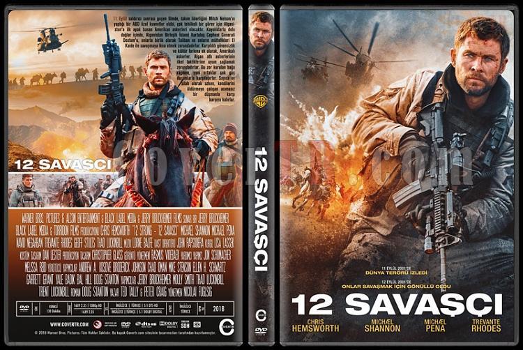 12 Strong (12 Savaşçı) - Custom Dvd Cover - Türkçe [2018]-1jpg