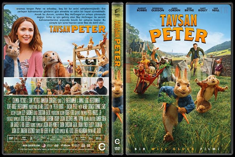 Peter Rabbit (Tavşan Peter) - Custom Dvd Cover - Türkçe [2018]-1jpg