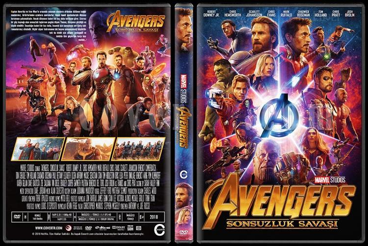 Avengers: Infinity War (Yenilmezler: Sonsuzluk Savaşı) - Custom Dvd Cover - Türkçe [2018]-2jpg