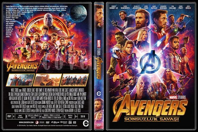 Avengers: Infinity War (Yenilmezler: Sonsuzluk Savaşı) - Custom Dvd Cover - Türkçe [2018]-3jpg