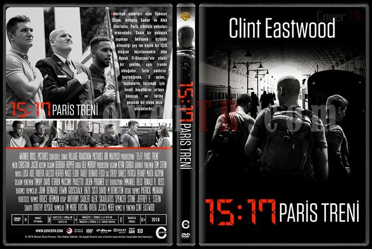 The 15:17 to Paris (15:17 Paris Treni) - Custom Dvd Cover - Türkçe [2018]-1jpg