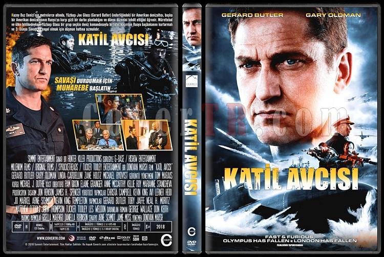 Hunter Killer (Katil Avcısı) - Custom Dvd Cover - Türkçe [2018]-1jpg