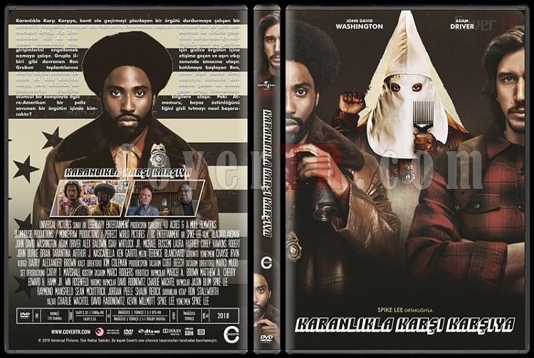 BlacKkKlansman (Karanlıkta Karşı Karşıya) - Custom Dvd Cover - Türkçe [2018]-3jpg