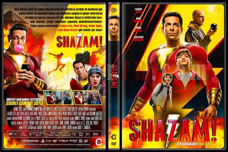 Shazam! (Shazam! 6 Güç) - Custom Dvd Cover - Türkçe [2019]-2jpg