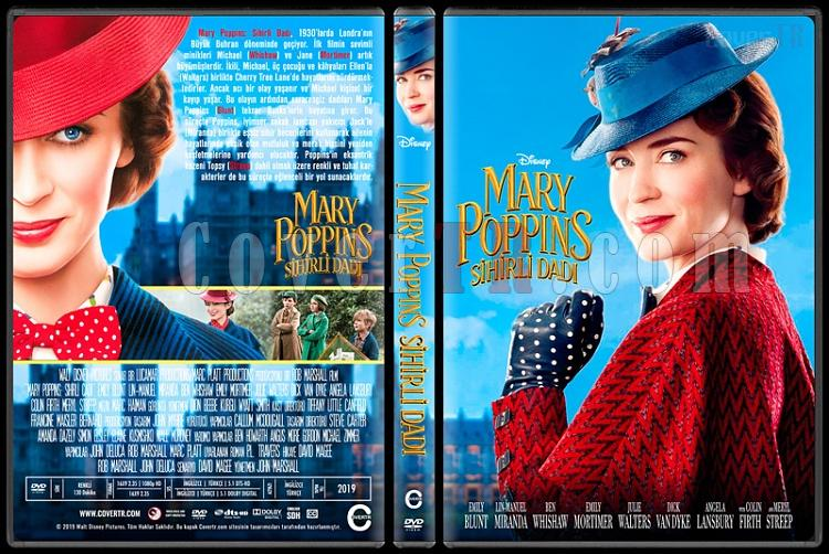 Mary Poppins Returns (Mary Poppins: Sihirli Dadı) - Custom Dvd Cover - Türkçe [2018]-1jpg