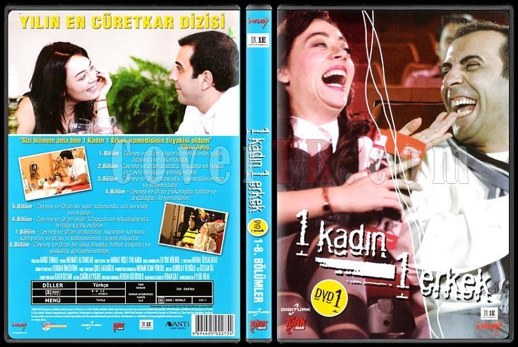 1 Kadın 1 Erkek (Dvd 1 / 1-8. Bölümler)  - Scan DVD Cover - Türkçe [2008-?]-1_kadin_1_erkek_1-1jpg