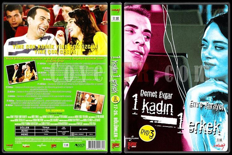 1 Kadın 1 Erkek (Dvd 3 / 17-26. Bölümler) - Scan DVD Cover - Türkçe [2008-?]-1_kadin_1_erkek_1-3jpg