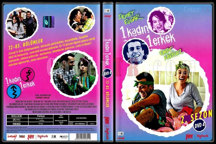 1 Kadın 1 Erkek (Dvd 4 / 72-83. Bölümler) - Scan DVD Cover - Türkçe [2008-?]-1_kadin_1_erkek_2-4jpg
