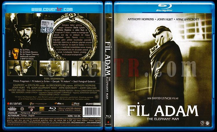 The Elephant Man (Fil Adam) - Scan Bluray Cover - Türkçe [1980]-1jpg