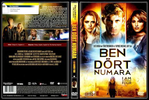 I Am Number Four (Ben Dört Numara) - Scan Dvd Cover - Türkçe [2011]-i-am-number-four-ben-dort-numara-scan-dvd-cover-turkce-2011jpg