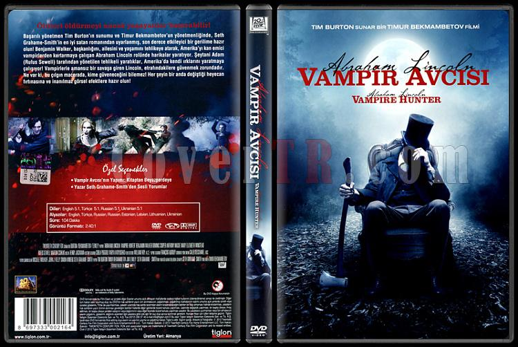 Abraham Lincoln Vampire Hunter (Abraham Lincoln Vampir Avcısı) - Scan Dvd Cover - Türkçe [2012]-abraham-lincoln-vampire-hunter-abraham-lincoln-vampir-avcisi-scan-dvd-cover-turkce-2012jpg