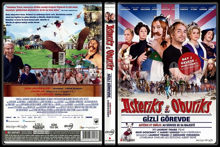Asterix And Obelix At Her Majesty's Secret Service (Asteriks ve Oburiks Gizli Görevde) - Scan Dvd Cover - Türkçe [2012]-asterix-obelix-her-majestys-secret-service-asteriks-ve-oburiks-gizli-gorevde-scan-dvjpg