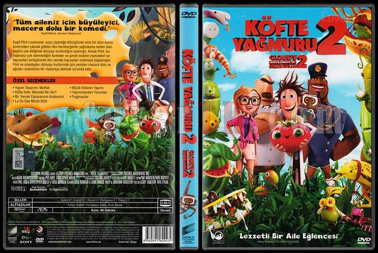 Cloudy with a Chance of Meatballs 2 (Köfte Yağmuru 2) - Scan Dvd Cover - Türkçe [2013]-kofte-yagmuru-2-ycxjpg