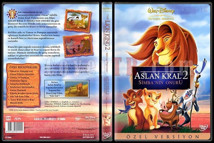 The Lion King 2: Simba's Pride (Aslan Kral II: Simba'nın Onuru) - Scan Dvd Cover - Türkçe [1998]-lion-king-2-simbas-pride-aslan-kral-ii-simbanin-onuru-scan-dvd-cover-turkce-1998jpg
