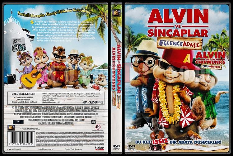 Alvin and the Chipmunks: Chipwrecked (Alvin ve Sincaplar 3: Eğlence Adası) - Scan Dvd Cover - Türkçe [2011]-alvin_and_the_chipmunks_chipwreckedjpg