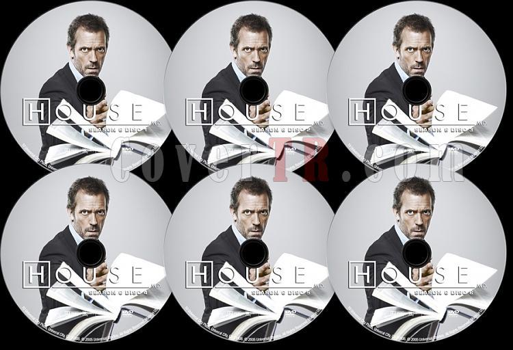 House M.D. (Season 6) - Custom Dvd Label Set - English [2004–2012]-s06jpg