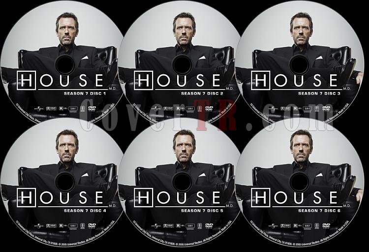 House M.D. (Season 7) - Custom Dvd Label Set - English [2004–2012]-s07jpg
