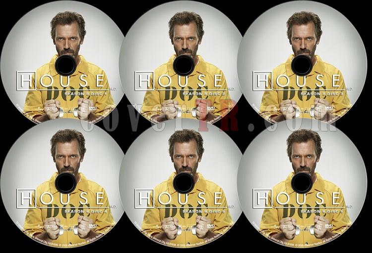 House M.D. (Season 8) - Custom Dvd Label Set - English [2004–2012]-s08jpg