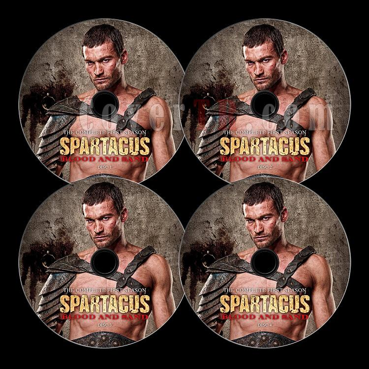Spartacus: Blood and Sand - Custom Dvd Label Set - English-1jpg