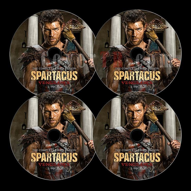 Spartacus: War of the Damned - Custom Dvd Label Set - English-4jpg