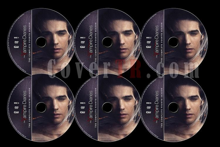The Vampire Diaries (Season 4) - Custom Dvd Label Set