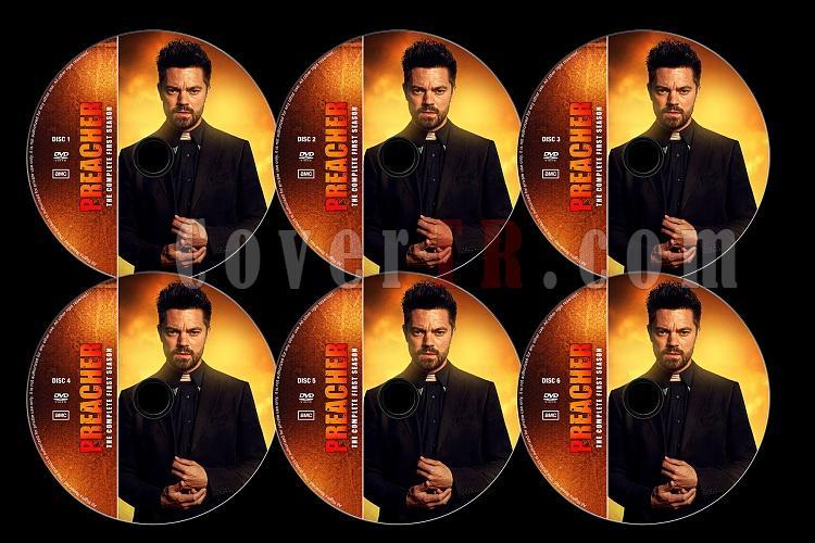 Preacher (Season 1) - Custom Dvd Label Set - English [2016]-preacherjpg